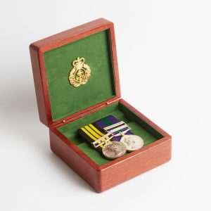 Personalised laser engraved, jarrah giftware, small medal box