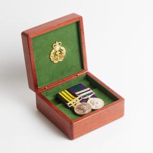 Personalised laser engraved, jarrah giftware, small medal box