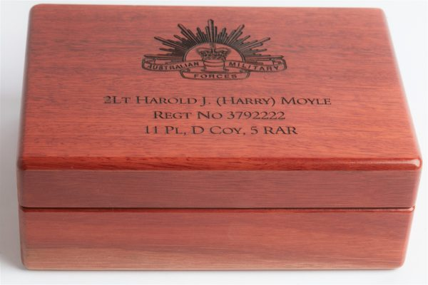 Personalised laser engraved, jarrah giftware, medium service medal box