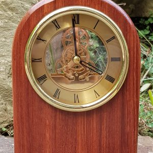 Personalised laser engraved, jarrah giftware, small clock