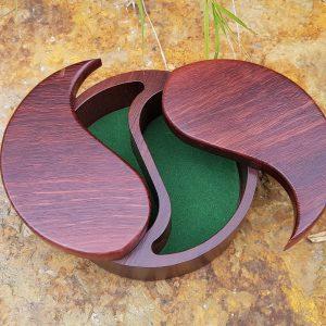 Personalised laser engraved, jarrah giftware, Yin Yang box